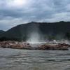 Approaching Hogenakkal Falls.