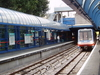 A DLR Train Approaching The Southbound Platform