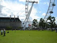 London Eye And LCC Building From Jubilee Gardens
