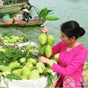 Mekong Delta Floating Market Cai Be Cho Noi
