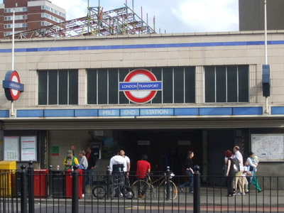 Mile End Tube Station Entrance