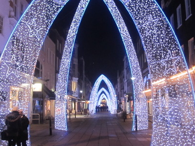 South Molton Street At Christmas Time