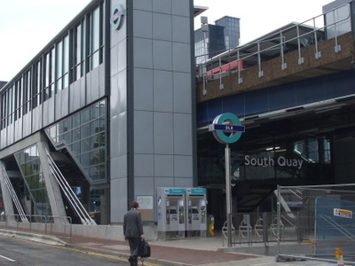 South Quay DLR Station West Entrance