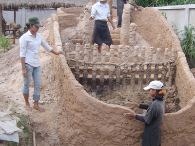 Ancient  Cambodian Kiln Reconstitution