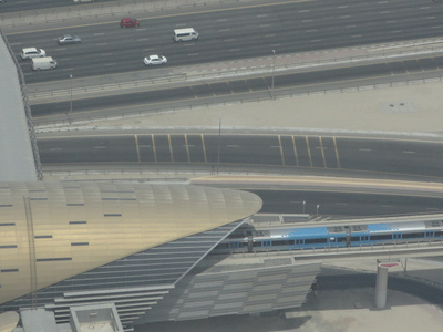 Station Seen From The Top Of The Burj Khalifa
