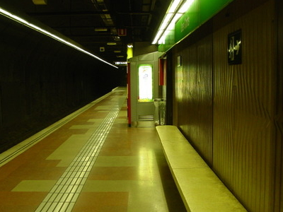 Les Corts Metro Station