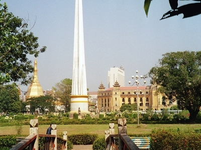 Myanmar   Yangon   Independence  Monument In  Mahabandoola Park