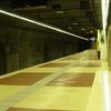 Platform View Of Palau Reial Station