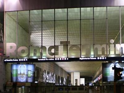 Roma Termini Railway Station At Night