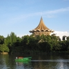 Sarawak State Assembly Building Beside The Sarawak River