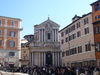 View Of The Church From The Trevi Fountain