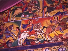 Mural Paintings On The Island Monasteries Of Alake Tana
