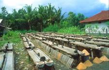 Bali Kusamba Fishing Village Salt