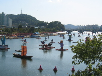 Namgang Lantern Festival Held In Jinju South Korea