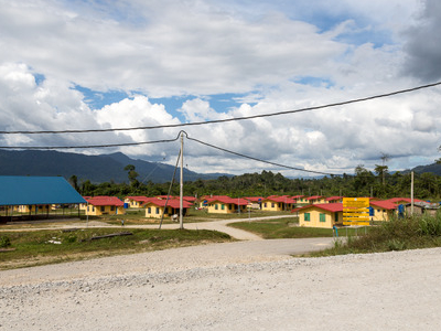 New Houses In Sapulut.