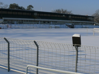 The Mommsenstadion In Winter