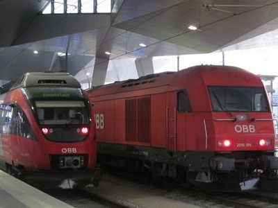 ÖBB Trains Standing At Platforms 10 And 11