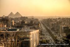 Egypt Cairo Pyramids Sunset Hdr 1 2