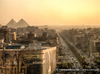 Egypt Cairo Pyramids Sunset Hdr 1 2