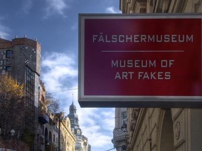 Museum Of Art Fakes. Background Left: The Hundertwasserhaus