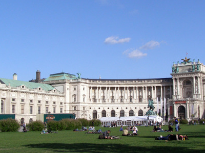 Heldenplatz In Front Of The Hofburg Palace