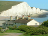The Seven Sisters Cliffs And The Coastguard Cottages