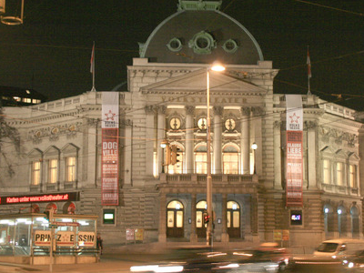 The Volkstheater At Night