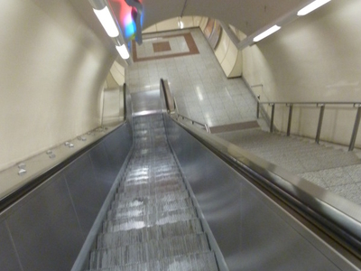 Escalators At Ambelokipi Metro Station