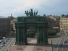 Narva Triumphal Arch From Above