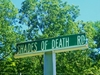 Shades Of  Death  Road Sign South