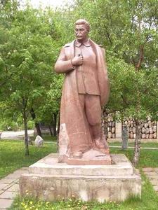 Vandalized Statue Of Joseph Stalin