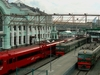 Suburban Trains And Aeroexpress In Belorussky Station