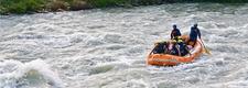 Enjoy Rafting In River