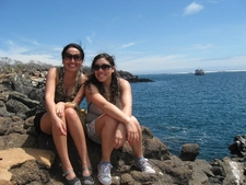 Susana And Maria Isabel At Galapagos Islands