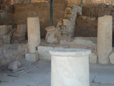 Remains Of An Ancient House Excavated In Akanthos