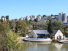 View Of Lake And Cafe, Jerusalem Botanical Gardens