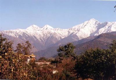 Dhauladhar Range Of The Himalayas From Kangra Valley