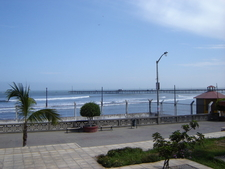 Pacasmayo Pier Seen From Shore