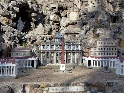 St. Peters Church In Rome Model At The Ave Maria Grotto
