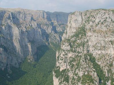 The Vikos Gorge Near Vitsa