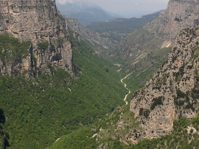 View Of Vikos Gorge From Beloe