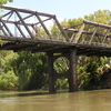 The Closed Hampden Bridge Over The Murrumbidgee River