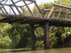 The Closed Hampden Bridge Over The Murrumbidgee River