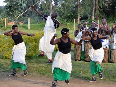 Intore Dancers Of Rwanda Entertain Travelers In Volcanoes National Park