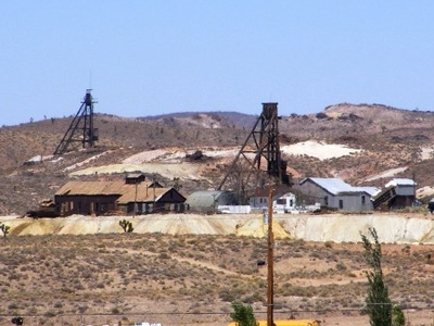 The Old Florence Hill Mines Above Goldfield