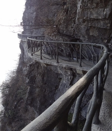 Tianmen Mountain Cliff Footpath