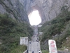 Natural Arch And The Stairway, Tianmen Mountain