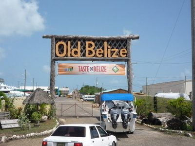 Logo And Entrance To Old Belize