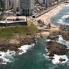 Farol Da Barra Beach On Right
