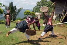 Traditional Caci Dance In Flores